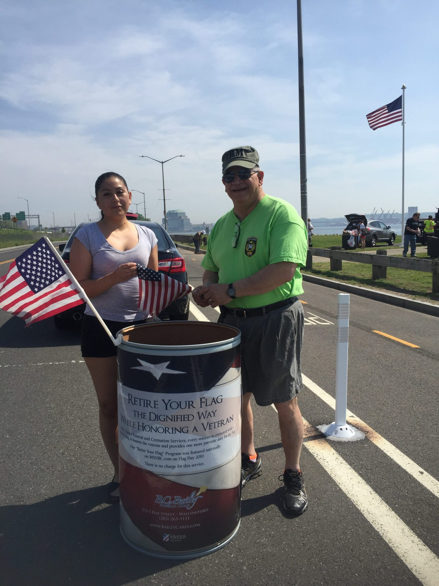 American Legion New Haven Post 210 unserviceable flag collection