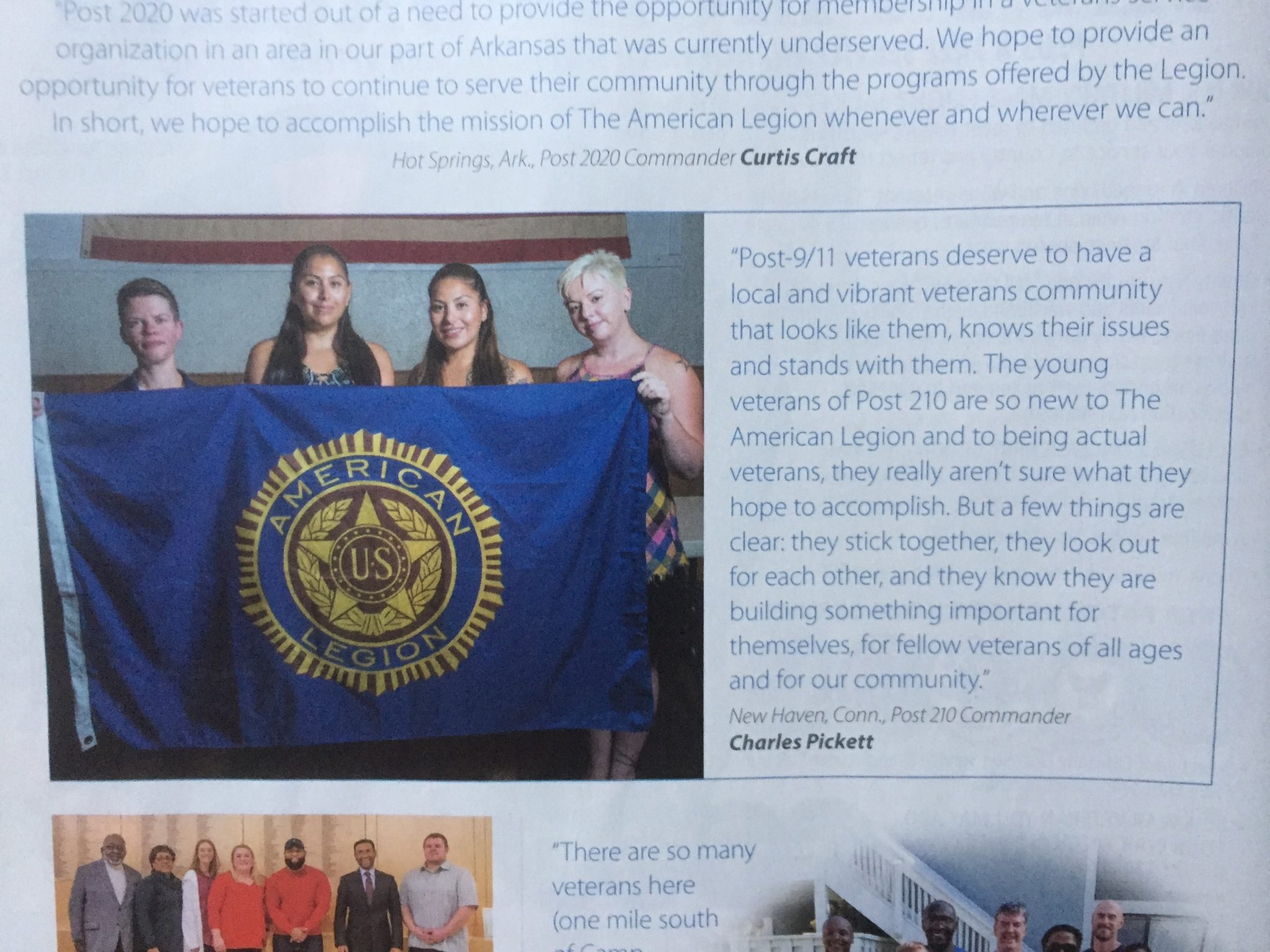 American Legion Magazine Mention